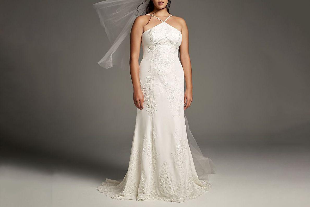 White by Vera Wang Plus Size Lace Wedding Dress