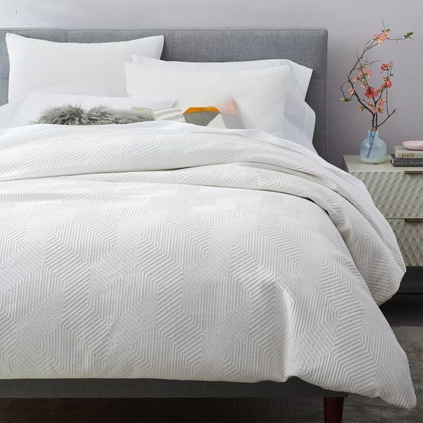 West Elm Modern Geo Duvet Cover, Queen