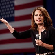 Michele Bachmann would stop hurricanes by appointing God as her budget chief.