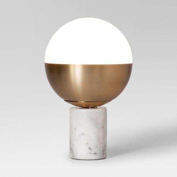Project 62 Geneva Glass Globe Accent Lamp Brass