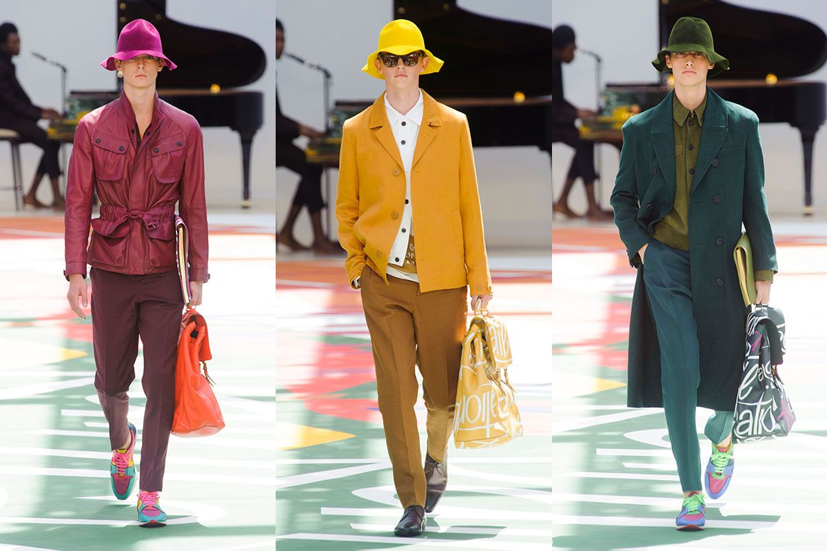 Burberry Debuted Bright-Yellow Bucket Hats for Men a1dd94699b9e
