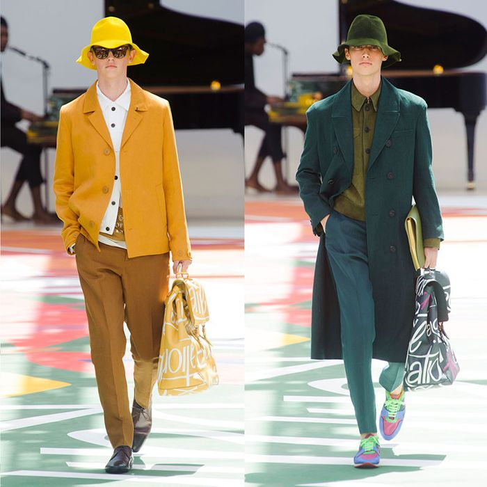 808d81f11d9 Burberry Debuted Bright-Yellow Bucket Hats for Men