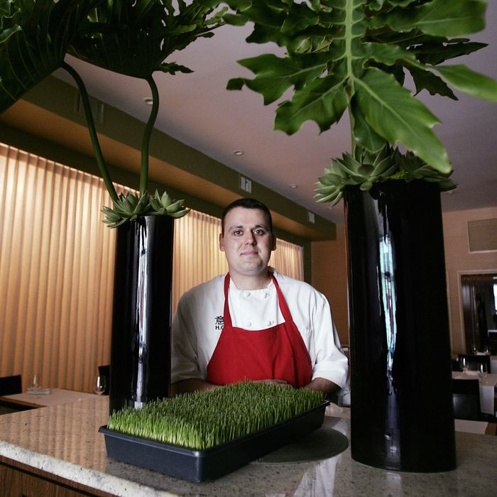 The chef, at his restaurant Moto in 2007.