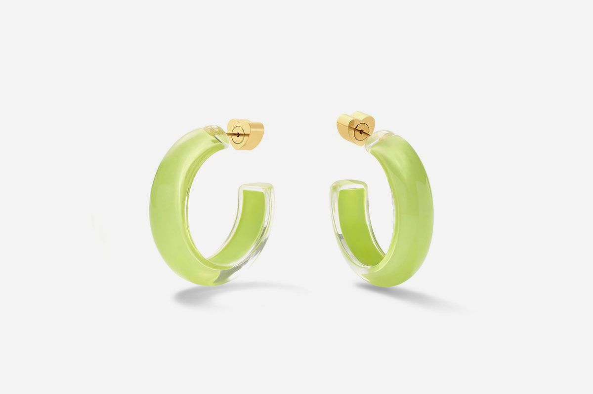 Small Jelly Hoops in Lime