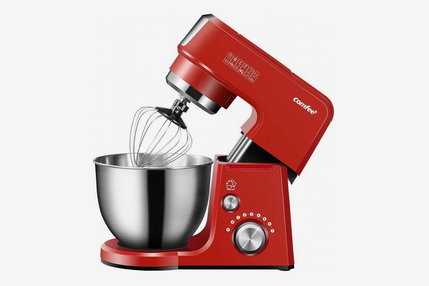 Comfee 2.6-Quart Die Cast 7-in-1 Multi-Function Tilt-Head Stand Mixer