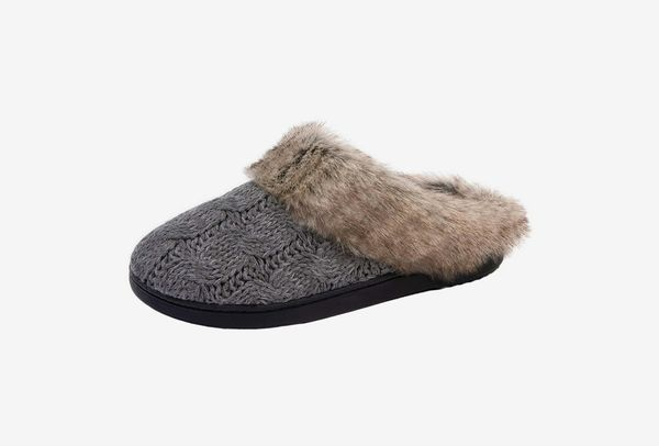 Ultraideas Women's Soft Yarn Cable Knitted Slippers