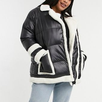 Threadbare Curve Jiggy Oversized Quilted Jacket