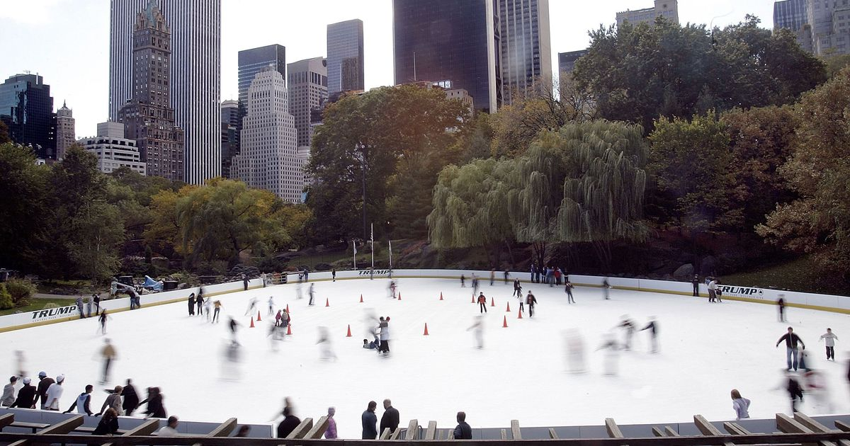 Trump's Company Hides His Name at NYC Ice Rinks