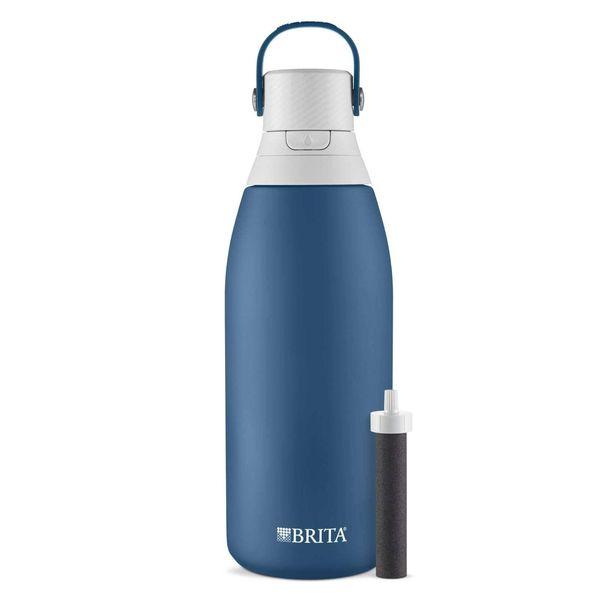 Brita Stainless Steel Water Filter Bottle, 32 oz