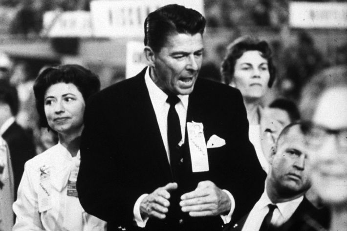 Ronald Reagan during the 1964 Repub. Convention. (Photo by Ralph Crane/The LIFE Picture Collection/Getty Images)