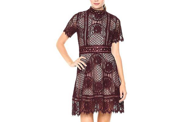 BB Dakota Women's Aria Short Sleeve Lace Dress