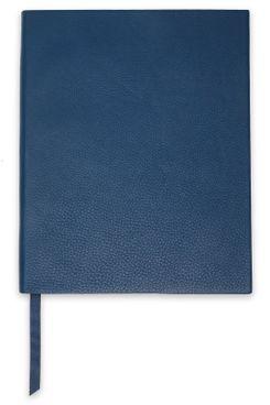 Smythson Pebbled-Leather Notebook (Petrol)