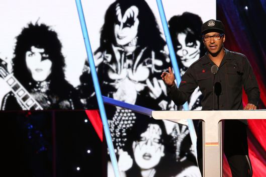 Musician Tom Morello speaks onstage at the 29th Annual Rock And Roll Hall Of Fame Induction Ceremony at Barclays Center of Brooklyn on April 10, 2014 in New York City.