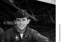F 360410 005 Texas File Photo Circa 1970 George W. Bush During His Service Days In The Texas Air National Guard Circa 1970.