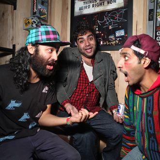 Himanshu Suri, Victor Vazquez and Dap of Das Racist.