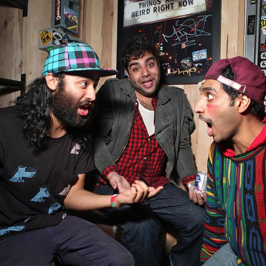 Himanshu Suri, Victor Vazquez and Dap of Das Racist.
