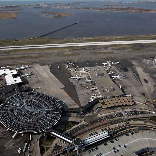 NEW YORK, NY - APRIL 15:  An aerial view of John F. Kennedy Airport (JFK) on April 15, 2011 in the Jamaica neighborhood of the Queens borough of New York City.  (Photo by Spencer Platt/Getty Images)