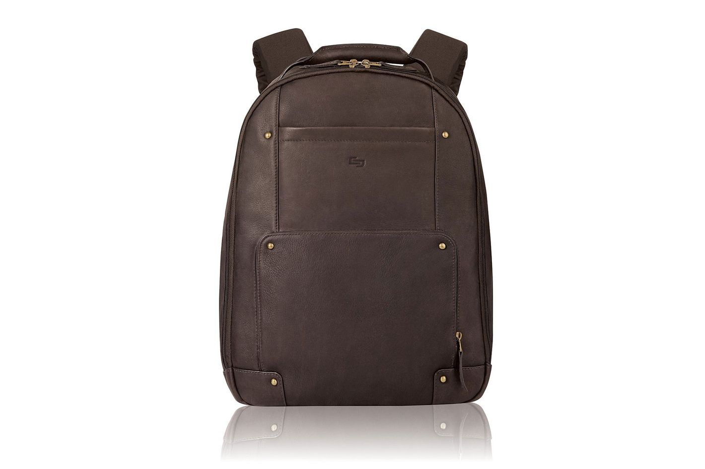 "Solo Vintage Colombian Leather Laptop Backpack (Fits Up to 15.6"" Laptop)"