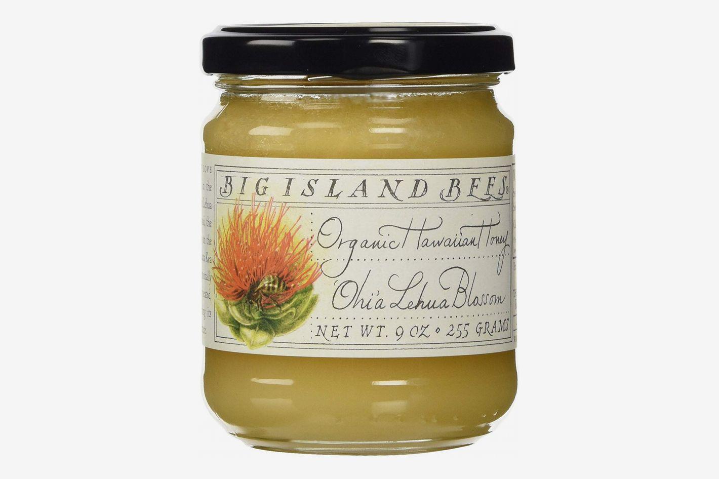 Organic Ohia Lehua Blossom Raw Hawaiian Honey, Single Floral Variety by Big Island Bees
