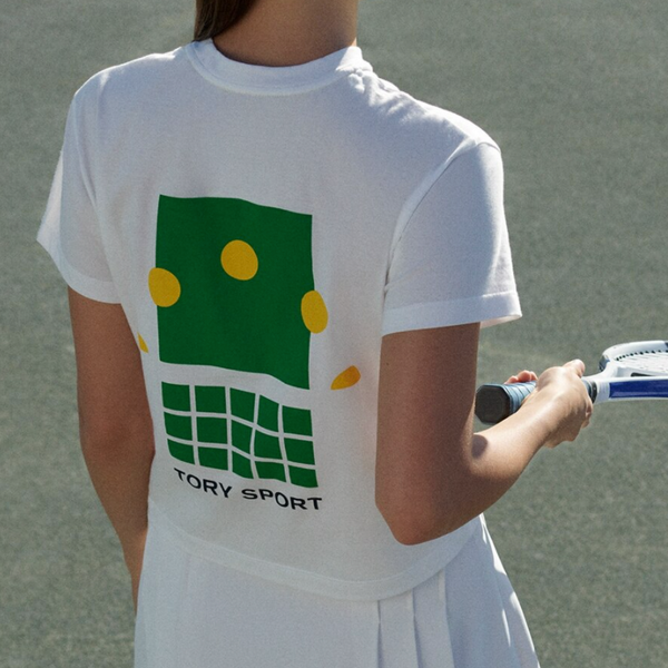 Tory Sport Graphic Cropped T-Shirt