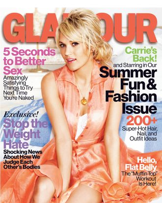 Carrie Underwood for <em>Glamour</em>.