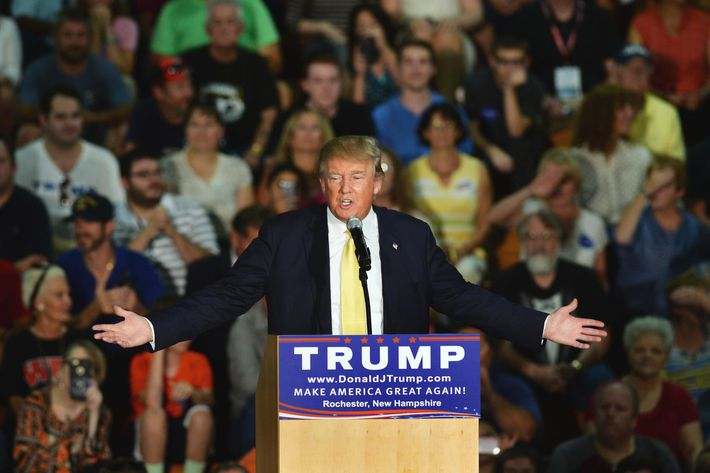 Donald Trump Holds Town Hall In New Hampshire