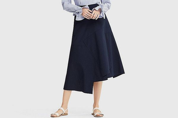 Uniqlo X JWA Linen Cotton Long Flare Skirt