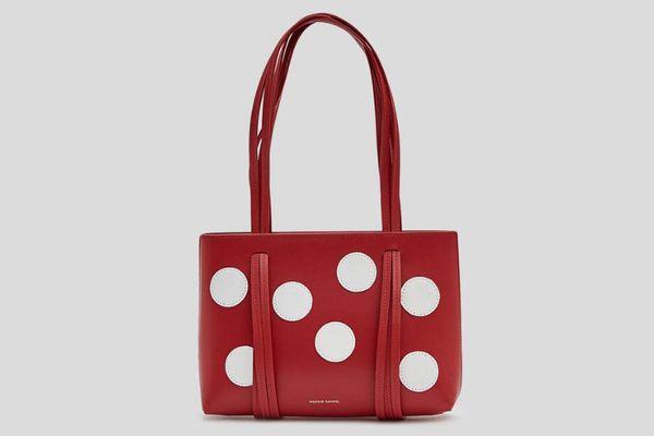 Mansur Gavriel Calf Mini Fringe Dot Bag