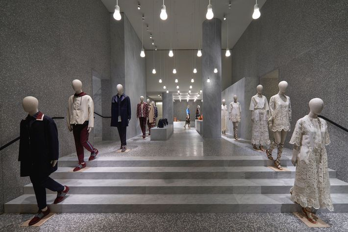 Inside the new Valentino flagship in Rome.