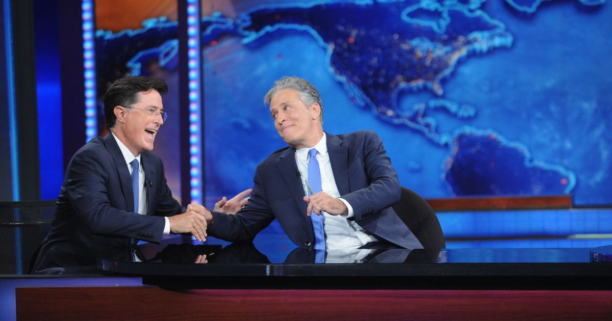 Stephen Colbert's Good-bye to Jon Stewart: 'You Are Infuriatingly Good at Your Job'