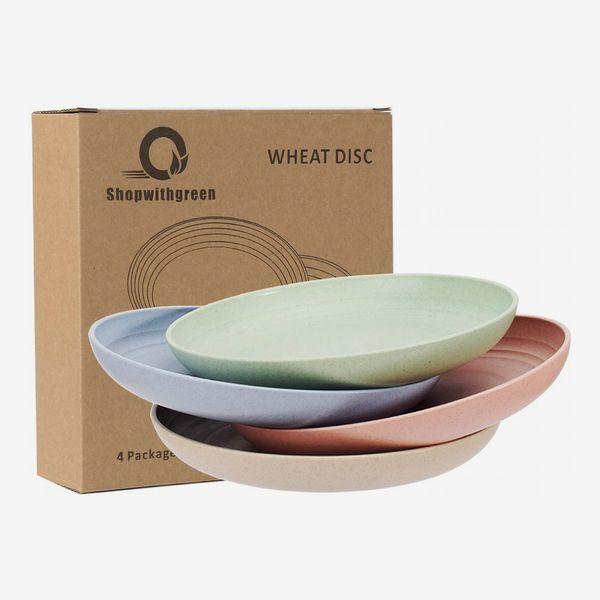 Lightweight Wheat Straw Plates - 4 Pack
