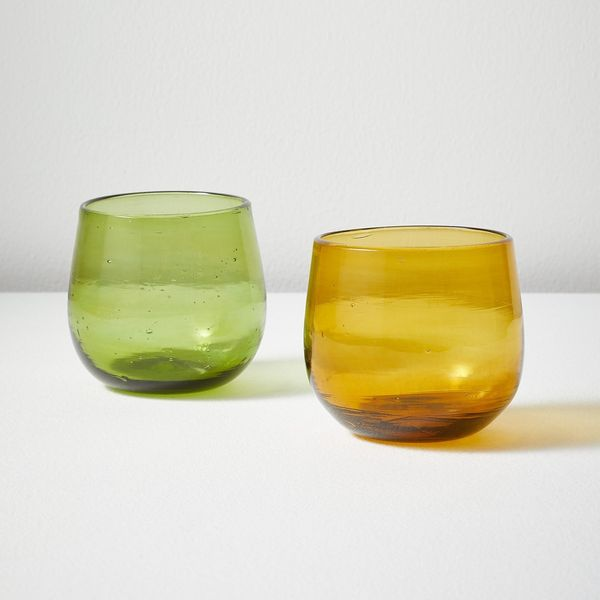 Toast Hand Blown Glass Tumbler