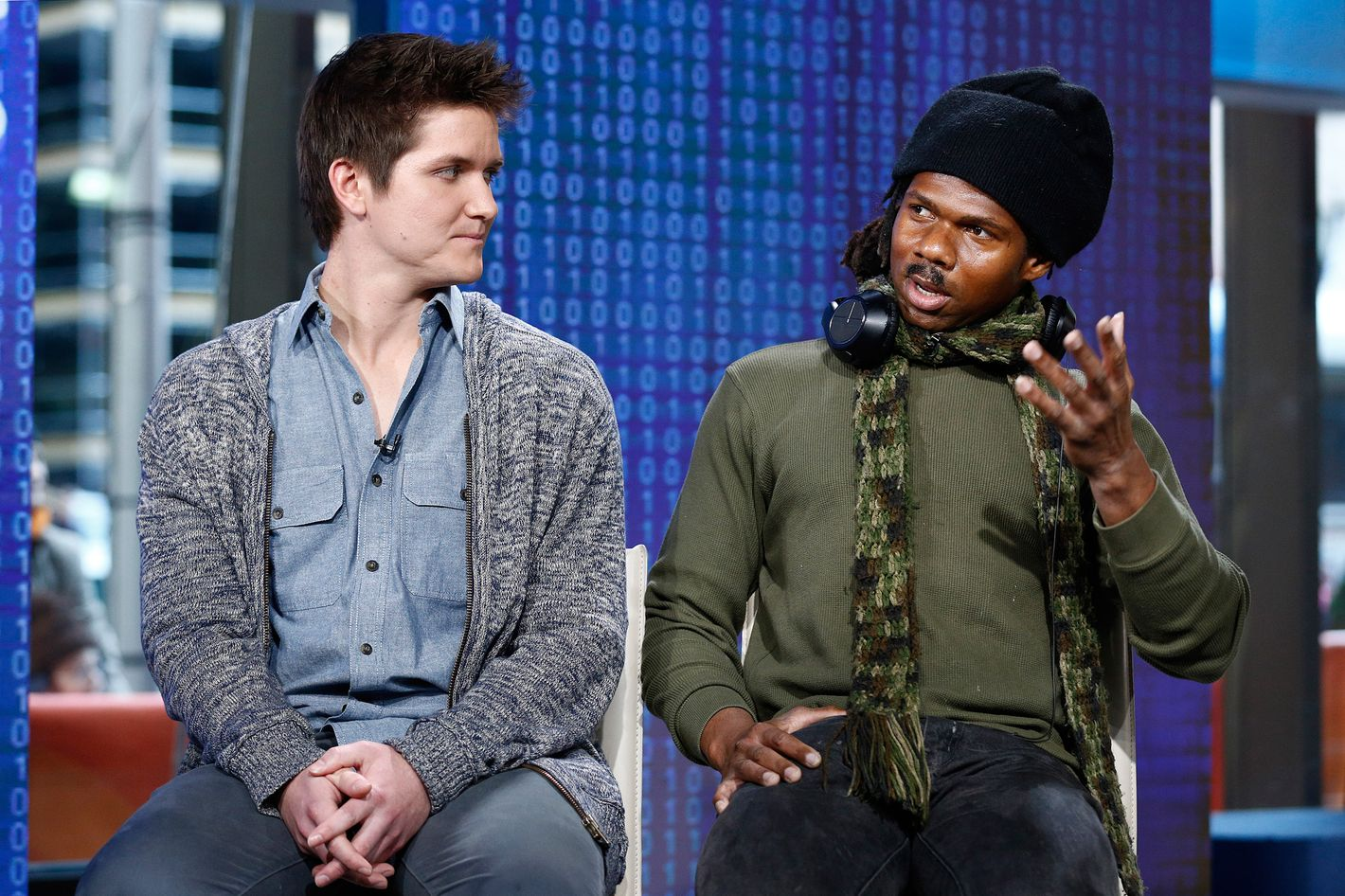 """TODAY -- Pictured: (l-r) Patrick McConlogue and Leo Grand appear on NBC News' """"Today"""" show -- (Photo by: Peter Kramer/NBC)"""