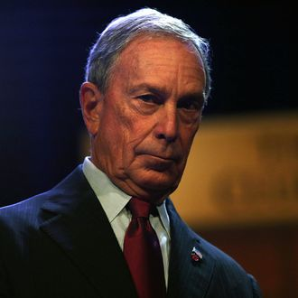NEW YORK, NY - DECEMBER 18: New York Mayor Michael Bloomberg pauses after speaking to the Economic Club of New York in what is being billed as his last major speech as Mayor of New York City on December 18, 2013 in New York City. Bloomberg, who is down to his final two weeks in office after 12 years of running New York, leaves behind a city that has made great gains in development, crime reduction and tourism but is still nagged by a large number of both homeless and impoverished residents. Mayor-Elect Bill de Blasio has promised to focus more on low income housing and easing the strain for poor and working class New Yorkers when he takes over on January 1, 2014. (Photo by Spencer Platt/Getty Images)