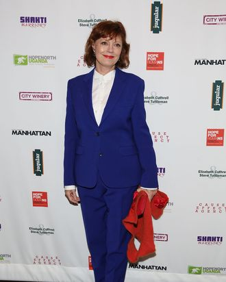 NEW YORK, NY - NOVEMBER 01: Actress Susan Sarandon attends 2014 Hope North Benefit Gala at City Winery on November 1, 2014 in New York City. (Photo by Mireya Acierto/Getty Images)