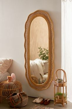Urban Outfitters Malorie Wicker Wall Mirror
