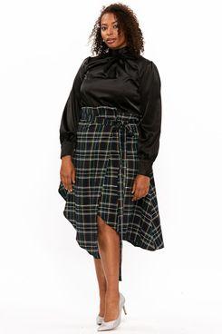 """""""Sally"""" Tartan Skirt Green"""