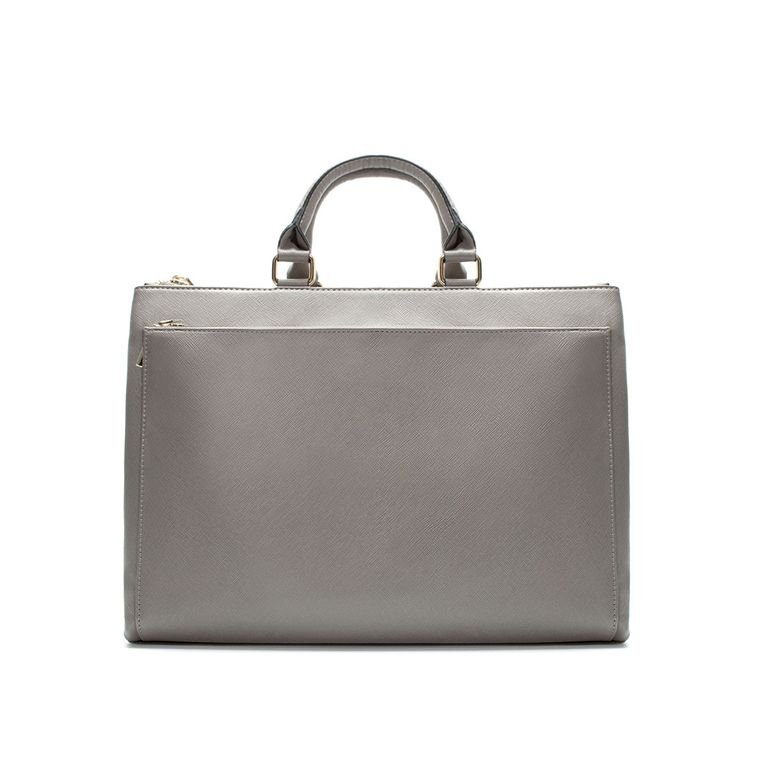 09d7f985081d With minimal branding and a fantastic take on Saffiano leather, this Zara  tote would easily be mistaken for a much more expensive bag.