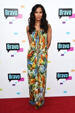 "Television Personality Padma Lakshmi  arrives at Bravo Media's 2013 ""For Your Consideration"" Emmy Event at Leonard H. Goldenson Theatre on May 22, 2013 in North Hollywood, California."