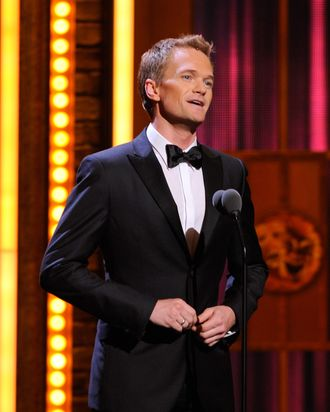 Neil Patrick Harris speaks on stage during the 65th Annual Tony Awards at the Beacon Theatre