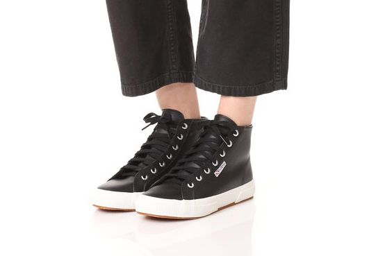 Superga 2795 Leather Hi Top Sneakers