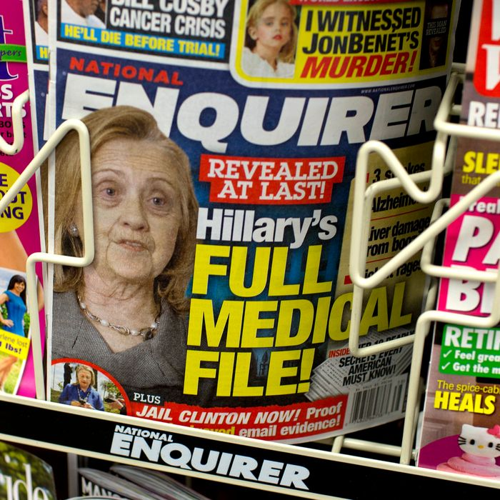 National Enquirer cover in September 2016 attacking Hillary Clinton