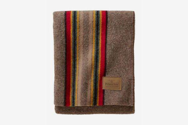 Pendleton Yakima Camp Wool Throw Blanket, Mineral Umber