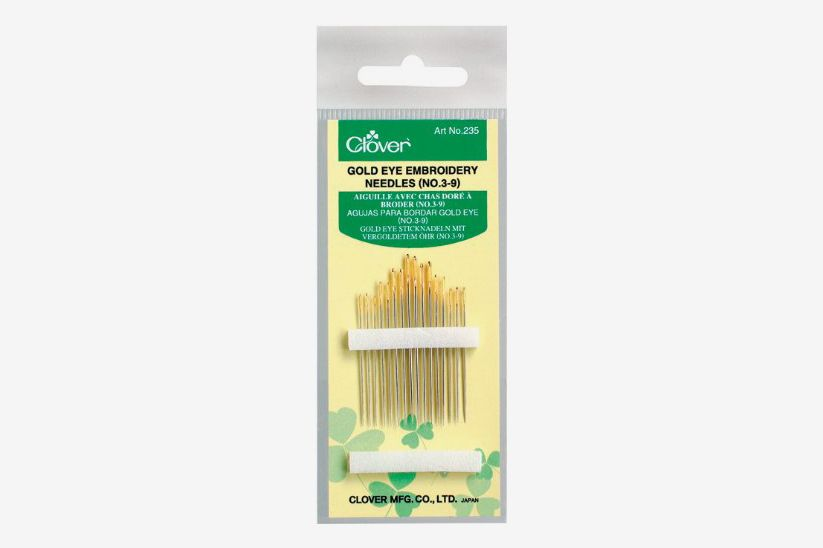 Clover 235 No. 3-9 Gold Eye Embroidery Needles