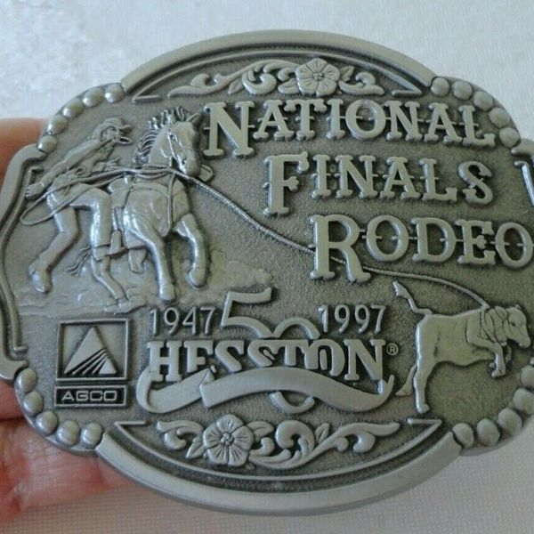1997 Hesston NFR National Finals Rodeo Belt Buckle