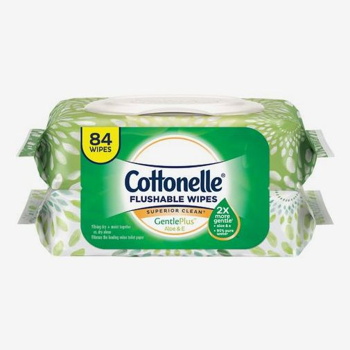 Cottonelle GentlePlus Flushable Wet Wipes with Aloe & Vitamin E
