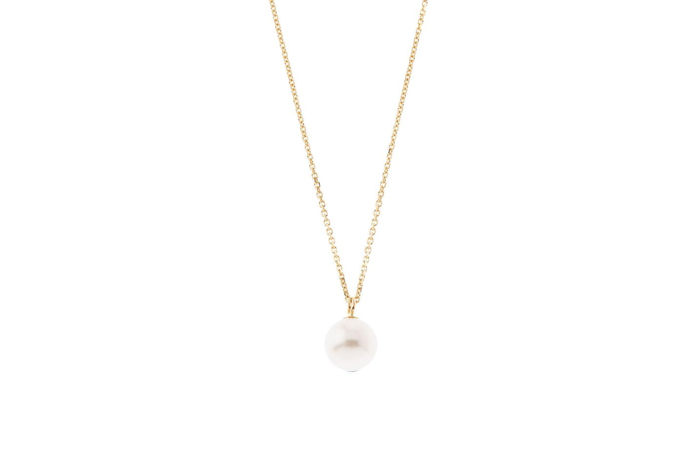 Laura Lee Gold Pearl Drop Necklace