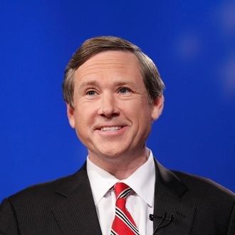 Republican Senate candidate Rep. Mark Kirk (R-IL) prepares for his debate with Democratic Senate nominee, Illinois State Treasurer Alexi Giannoulias, on October 19, 2010 in Chicago, Illinois. The two candidates are vying for the Senate seat currently held by Sen. Roland Burris (D-IL), who was appointed by embattled former Illinois Gov. Rod Blagojevich following Barack Obama's election as President.
