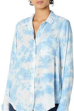 Lucky Brand Women's Long Sleeve Button Up Tie Dye Classic Shirt