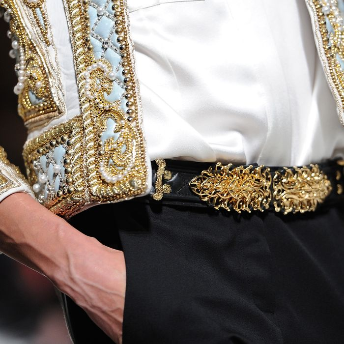 A detail shot from Balmain.